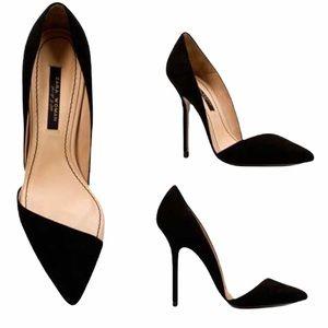 RARE Zara Asymmetric Court Suede Stiletto Heels 8